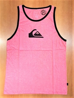 Musculosa Quiksilver Comp Logo Heather Rojo