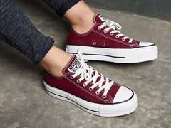 Zapatillas Converse Chuck Taylor Ox Lift Maroon (Bordó) - La Cresta Surf Shop