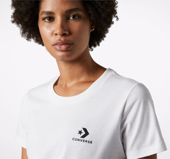 Remera Converse Mujer Chest Left Logo Blanca - comprar online