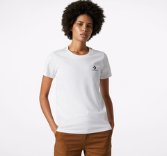 Remera Converse Mujer Chest Left Logo Blanca