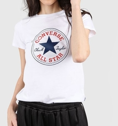 Remera Converse Mujer Patch Blanca