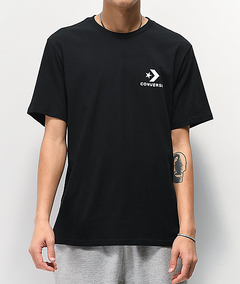 Remera Converse Left Chest Negra (7886A01)