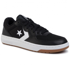 Converse Rival Leather Black/White - comprar online
