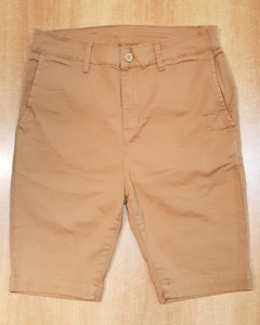 Bermudas Corte Chino Slim High Camel