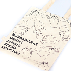 Ecobag Bordadeiras Unidas - Monsterbox - Bordado Studio