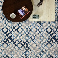 Tapete Via Star London 839 Cream/Navy - 1,50x2,00