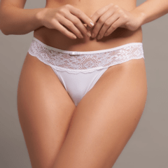 Fio Dental c/ Renda Microfibra Romantique - Estilo Natural Lingerie