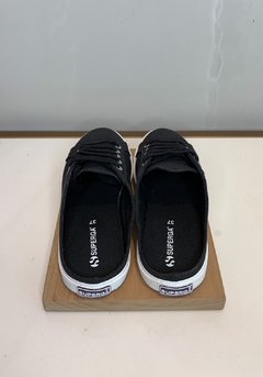 TENIS SUPERGA 2288 BABUCHE CANVAS BLACK na internet