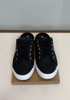 TENIS SUPERGA 2288 BABUCHE CANVAS BLACK