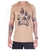 CAMISETA FOURMIXX FOOTPRINT CAMEL (BEGE)