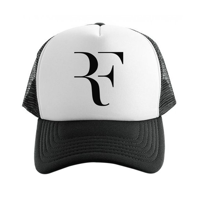 Pórtico Hambre pasajero  Gorra Trucker Roger Federer RF Negro