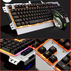 KIT TECLADO + MOUSE K33 GAMER RETROILUMINADO USB en internet