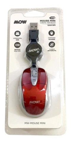 Mini Mouse Cable Retractil Usb Mow! - comprar online