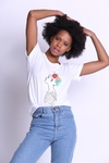 Remera Bordada Flower