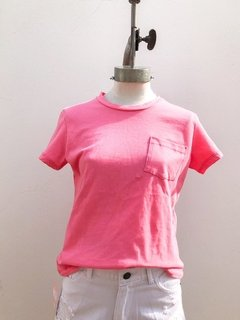 REMERA POCKET PINK