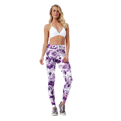 Legging Fusô Golden Talita Power up Floral Vestem na internet
