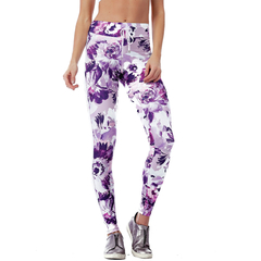 Legging Fusô Golden Talita Power up Floral Vestem