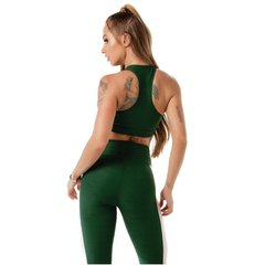 Top Botanical Jacquard Let's Gym Verde - comprar online