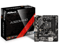 PLACA MAE AM4 DDR4 ASROCK A320MHD AM4