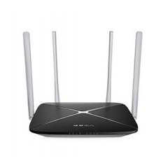 ROTEADOR WIRELESS AC1200MBPS DUAL BAND PRETO MERCUSYS
