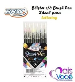 Marcador Brush Pen - Blister C/6 Cores - Brw