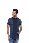 Camiseta Masculina Long Line Tricot