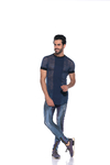 Camiseta Masculina Long Line Tricot - loja online