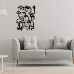 WALL ART MADERA - ABSTRACT FACES