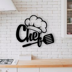 WALL ART MADERA - CHEF