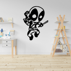WALLART MADERA - DEADPOOL JUMP