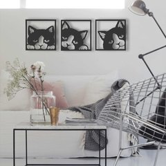 WALL ART MADERA - GATOS