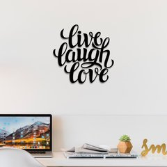 WALL ART MADERA - LIVE LAUGH LOVE