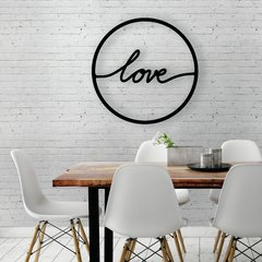 WALL ART MADERA - LOVE CIRCULO