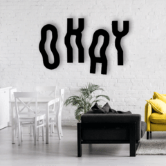 WALL ART MADERA - OKAY