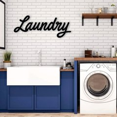 WALL ART MADERA - LAUNDRY