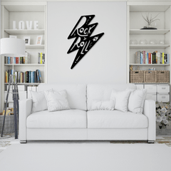 WALLART MADERA - RAYO ROCK & ROLL
