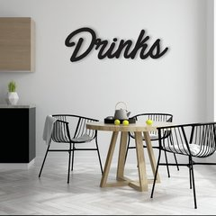 WALL ART MADERA - DRINKS