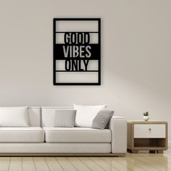 WALL ART MADERA - GOOD VIBES ONLY - comprar online