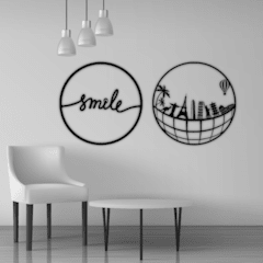 WALLART COMBO - SMILE & SKYLINE BOX