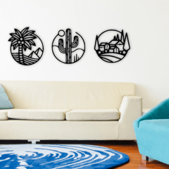 WALL ART MADERA - FOREST CIRCLES