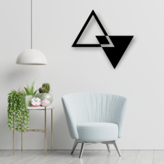 WALL ART MADERA - TRIANGLE