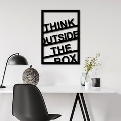 WALL ART MADERA - THINK OUTSIDE THE BOX