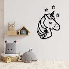 WALL ART MADERA - UNICORN