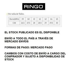 Ringo Fusion  01 (no X Forcer Topper) 100% Cuero Natural en internet