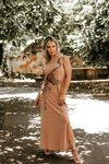 Vestido Outline Camel Maple