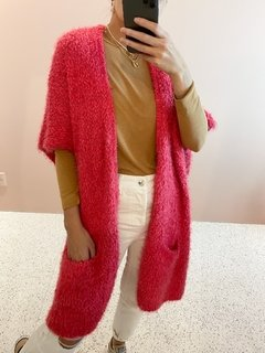 Maxi Colete Tricot Pink