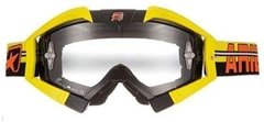 Antiparras transparentes Ariete MX Adrenaline Amarillo negro MX ATV Cross Enduro Yuhmak