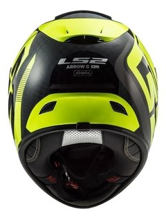 Casco Moto Integral Ls2 323 Arrow C Sting Amarillo Yuhmak en internet