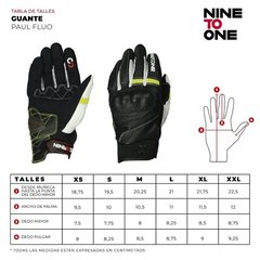 Guantes Cortos Nine To One Paul Fluor Protecciones Yuhmak en internet