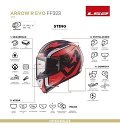 Casco Moto Integral Ls2 323 Arrow C Sting Amarillo Yuhmak - comprar online